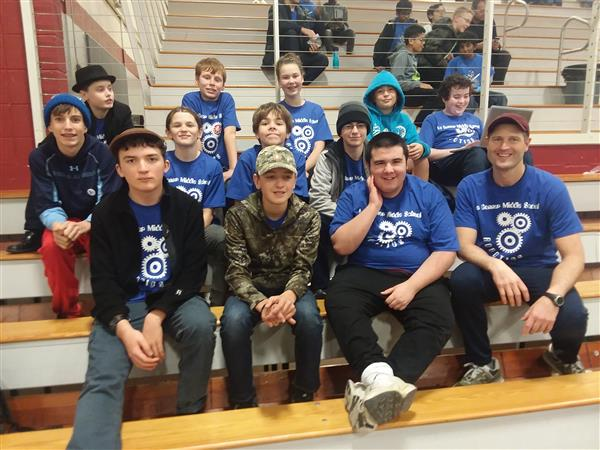 La Conner MS at FLL Robotics Tournament ~ Our Middle School team is making adjustments on the fly here at the First Lego League robotics tournament. Everyone is staying focused and working hard! (Click Title for more photos)<hr><br>