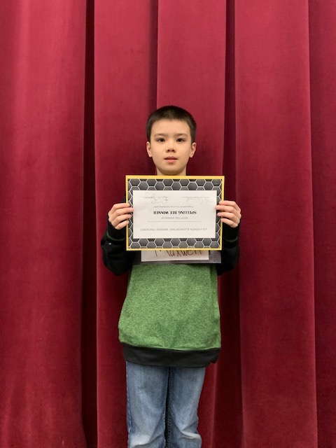 Maxwell Page Wins the 2018-19 Spelling Bee Contest<hr><br>