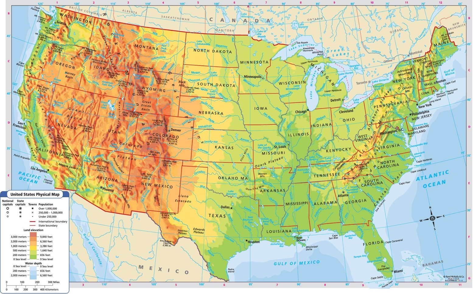 Us Map Study Game Globalinterco - Us physical map game